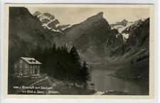 AK Appenzeller Alpen, Wirtschaft zum Seealpsee mit Säntis u. Altmann