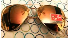 Ray-Ban RB3026 Aviator Large Sunglasses Gold/Orange Flash Mirror New w/case Auth