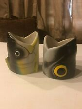 Pair Of Big Mouth Fish Can Coolie/Beer Cozies