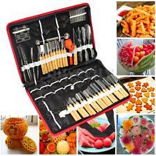 80PCS/Set Steel Portable Vegetable Fruit Food Wood Peeling Carving Tools Kit