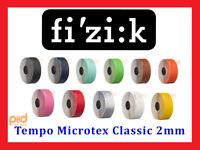 Fizik Tempo Microtex Classic 2mm Bike Handlebar Bar Tape Black Red Green Blue
