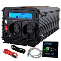 Power Inverter 3000W 6000W DC 12V a AC 220V Potenza Convertitore LCD EDECOA