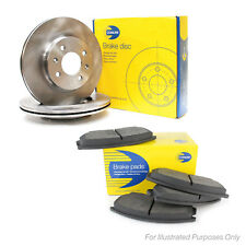 Fits Nissan Micra K13 1.2 Genuine Comline Front Vented Brake Discs & Pad Kit