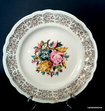 """Johnson Brothers Peony Dinner Plates, Set of 5 Sovereign Potters 10"""" Plates 1054"""