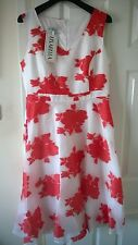 LizaBella Coral & Cream Dress