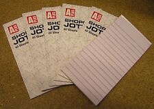 6 x Shoppers Shopping List Memo Pad Notepad Jotters 40 Sheets Lined Paper