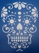 Scrapbooking - STENCILS TEMPLATES MASKS SHEET - Sugar Skull Stencil