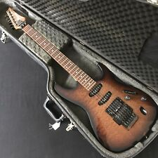 1987 Ibanez S540 Flame Top In Brown - No Backstop - With Original Hardcase
