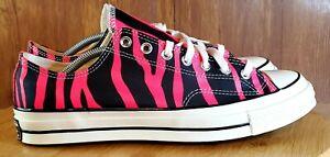 Converse Chuck 70 Archive Print Low Top Black/Pink 164409C Shoes Men's 10.5