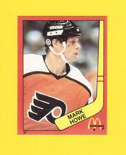 Mark Howe Philadelphia Flyers Scarce 1983 McDonalds Quebec Hockey Sticker