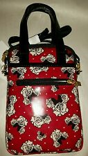 Disney Parks Minnie Mouse Tablet Case Purse Red Rose Crossbody Strap Cover