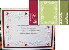 Sizzix embossing folders PEACE POINSETTIA embossing folder 3pc set Christmas