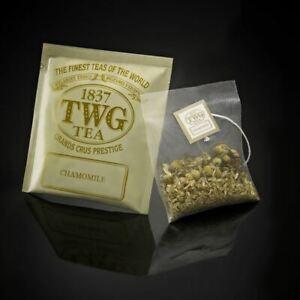 TWG Tea from Singapore - CHAMOMILE - 100 SILK Tea Bags BULK CARD BOX