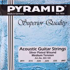 PYRAMID Akustik Gitarre .011-.047 Saiten SATZ, Acoustic Silver-Plated Wound
