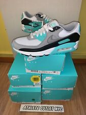 New Nike Air Max 90 Turquoise Grey Black Men's Size 7.5-13 Sneakers CD0490-104