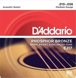 D'Addario  EJ17 Phosphor Bronze Guitar Strings Medium 13-56