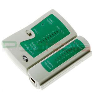TESTER di Rete ethernet RJ45 / telefono RJ11 per cavo pc internet cable network