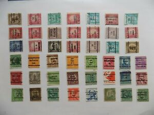 U S   Collection of all used PRECANCEL DEFINITIVES -7-21-E-We combine shipping