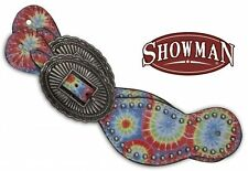 Showman Ladies Spur Straps w/ Tie Dye Print & Large Buckles! New Horse Tack!
