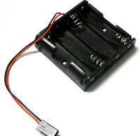 C1203-1 RC Battery Holder Case Box Pack 4 x AA Compatible JR 3 Pin