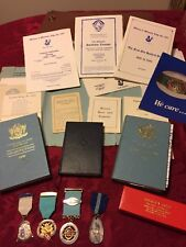 Freemasonry Medals Bundle , Ritual Books, Certificates Etc