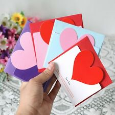 3pcs Hot Birthday Cards Greeting Envelope Heart-shaped Message Card