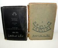 2 Old Ancient Book Jews JUDAICA Jewish Hebrew Rabbi Art Torah Bible Tanakh Moses
