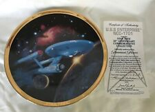Uss Enterprise Ncc-1701 Star Trek Numbered Collector Plate With Coa