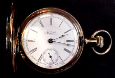 Watch.Runs.Min. Bid .01 & No Reserve! 14K Solid Gold American Waltham Pocket