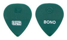 U2 Bono Signature Green Molded Guitar Pick - 2011 360 Tour