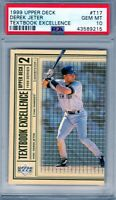 "1999 Upper Deck Textbook Excellence  ""Derek Jeter""  PSA 10 *NYY STUD* *HOF 2021*"