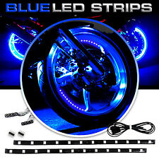 "12"" 6 Blue LED Flexible Strip Underbody Light Waterproof For Car Truck Boat 12V"