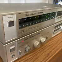 Vintage Fisher Amplifier CA-33 And Fisher FM-33 AM/FM Tuner Silver Working