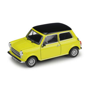 Welly 1:24 Mini Cooper 1300 Yellow Diecast Model Sports Racing Car NEW IN BOX