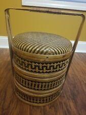 Asian Chinese 3 Tier Wedding Basket Bamboo & Woven Rattan Rosenthal Netter?