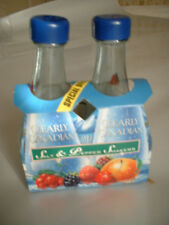 Clearly Canadian Strawberry miniature bottle glass salt and pepper shakers NEW