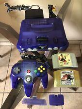 New listing Nintendo 64 Grape Purple N64 Grape Purple Funtastic Console Works Perfect