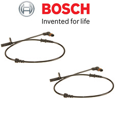 NEW Mercedes W204 C250 C350 Pair Set Of Front ABS Wheel Speed Sensors Bosch OEM