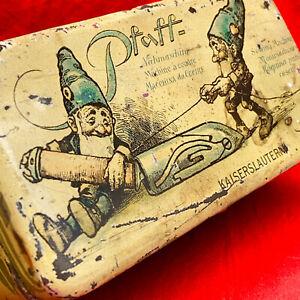 PFAFF Vintage Accessories Attachments Tin Box Germany