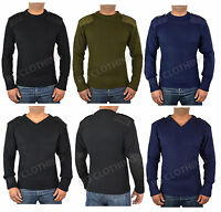 Men's Security Army Doorman Military Nato Jumper Black, Navy, Olive S-4XL