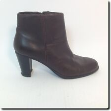 Biba Brown Leather Ankle Boots Shoe 7