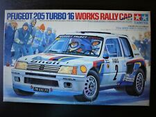 TAMIYA 1/24 Peugeot 205 Turbo 16 Works Rally Car Rare & Valuable !