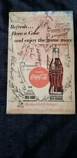 Vintage Baseball Program Signed coca cola Atlanta 1954