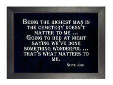 Steve Jobs Quote 5 Matters To Me Poster Motivational Inspirational Black White