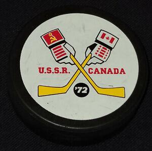 1972 SERIE DU SIECLE /SUPER SERIES - CANADA RUSSIA /USSR - PREMIUM SOUVENIR PUCK