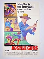 HOSTILE GUNS 1967 Original One-Sheet 27x41 George Montgomery, Yvonne De Carlo
