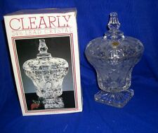 """Vintage Covered Crystal Candy Dish-By Crisa 9.5"""" X 6"""""""
