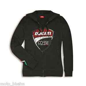 Ducati Sweatshirt Jacket Corse Sketch Women Sweater Jacket New Black