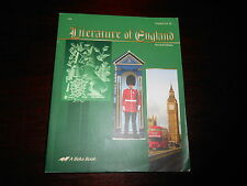ABeka Literature of England Student Textbook English Lit. II Homeschool 12th gr
