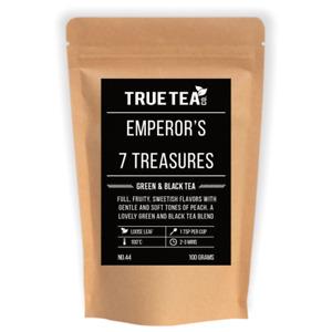 Emperor's 7 Treasure's Green & Black Tea (No.43) - Loose Leaf Tea - Peach Taste